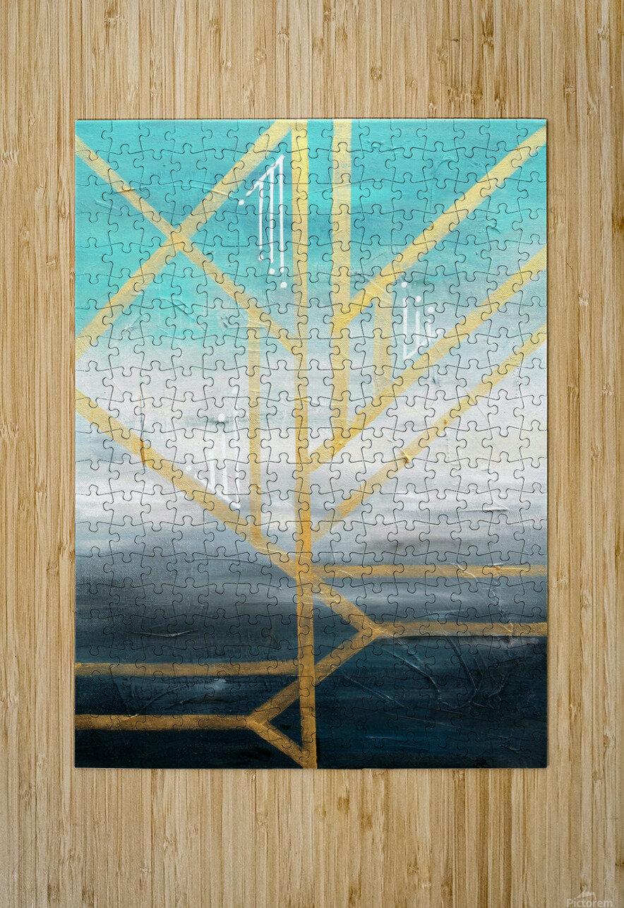 Art deco geometric II  HD Metal print with Floating Frame on Back