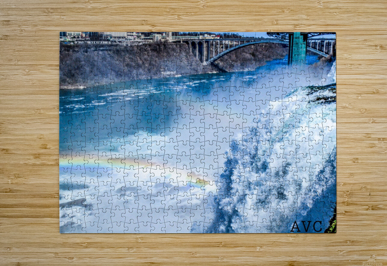 Waterfall Rainbow  HD Metal print with Floating Frame on Back