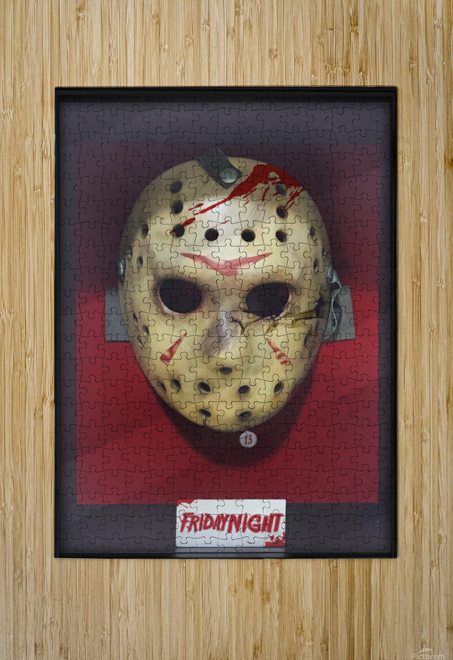 Jason  HD Metal print with Floating Frame on Back