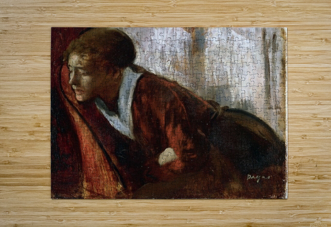 Melancholy by Degas  HD Metal print with Floating Frame on Back
