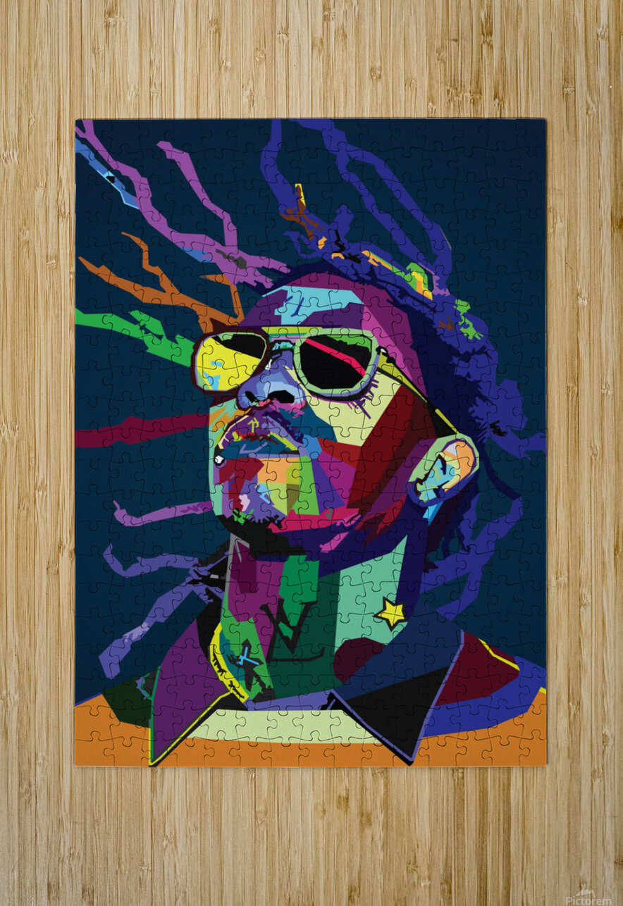 Young Thug Rapper Wpap Pop Art  HD Metal print with Floating Frame on Back