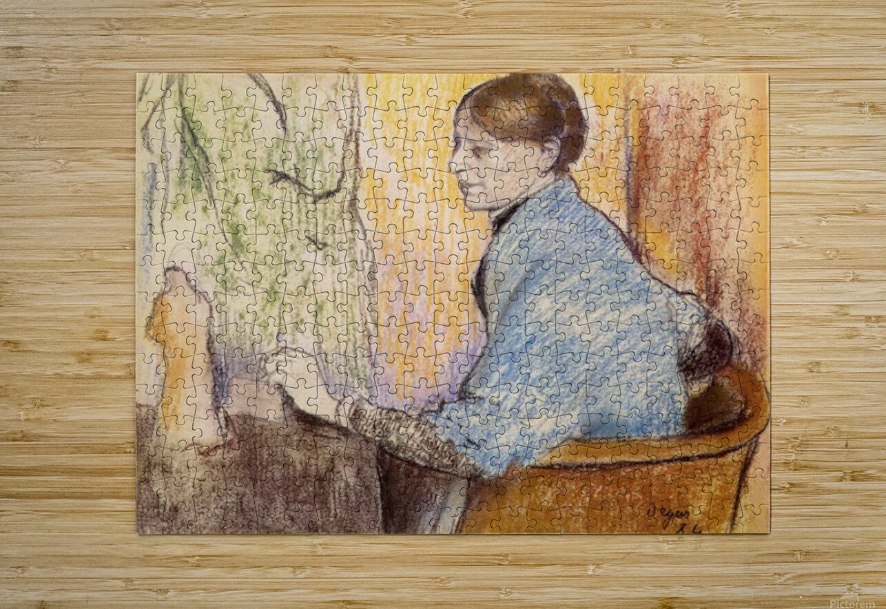 Mme Henri Rouart before a  statue by Degas  HD Metal print with Floating Frame on Back