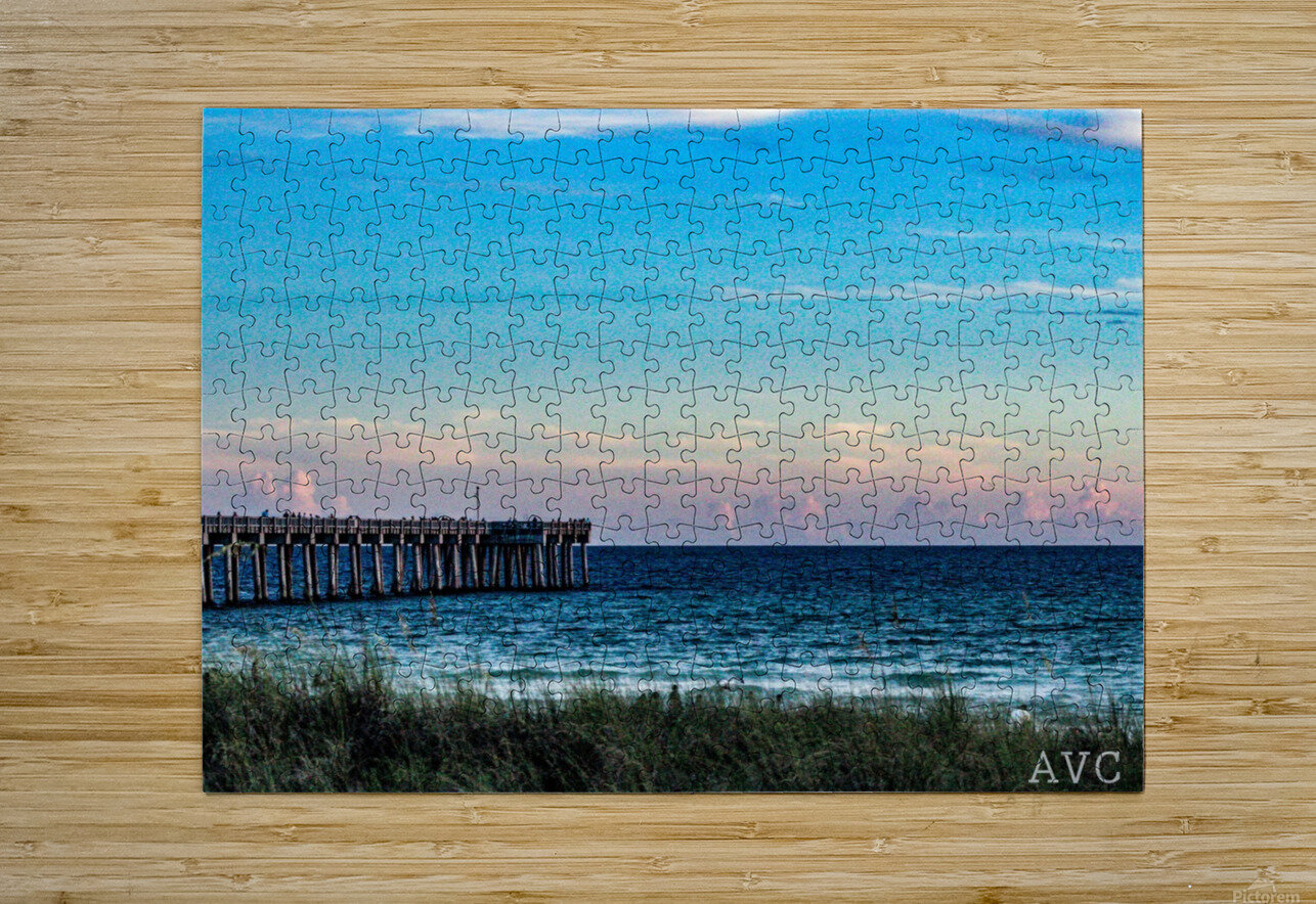 Sunset Beach  HD Metal print with Floating Frame on Back