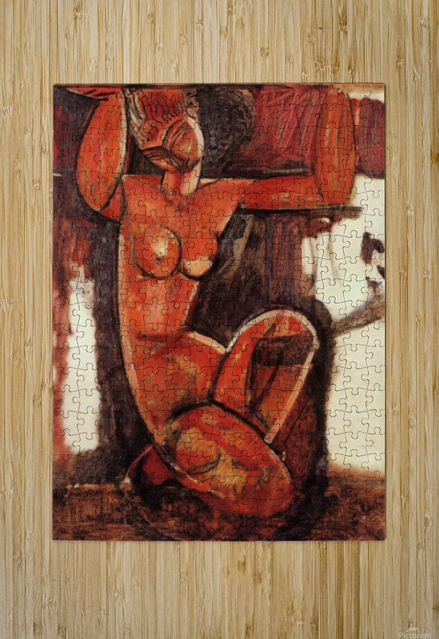 Modigliani - Caryatid -5-  HD Metal print with Floating Frame on Back
