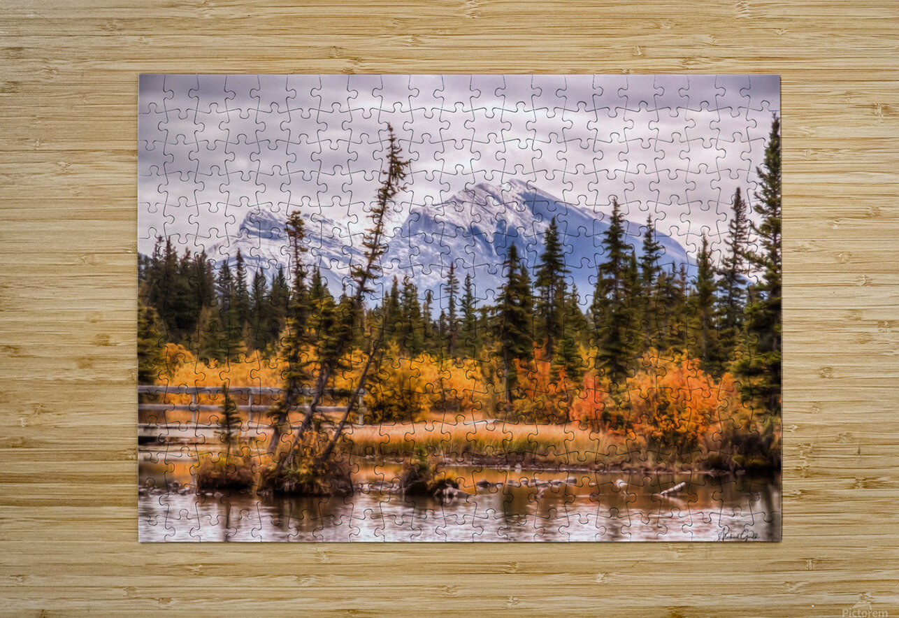 Policemans Creek and Grotto Mtn IMG_3003_4_5 PS_  HD Metal print with Floating Frame on Back