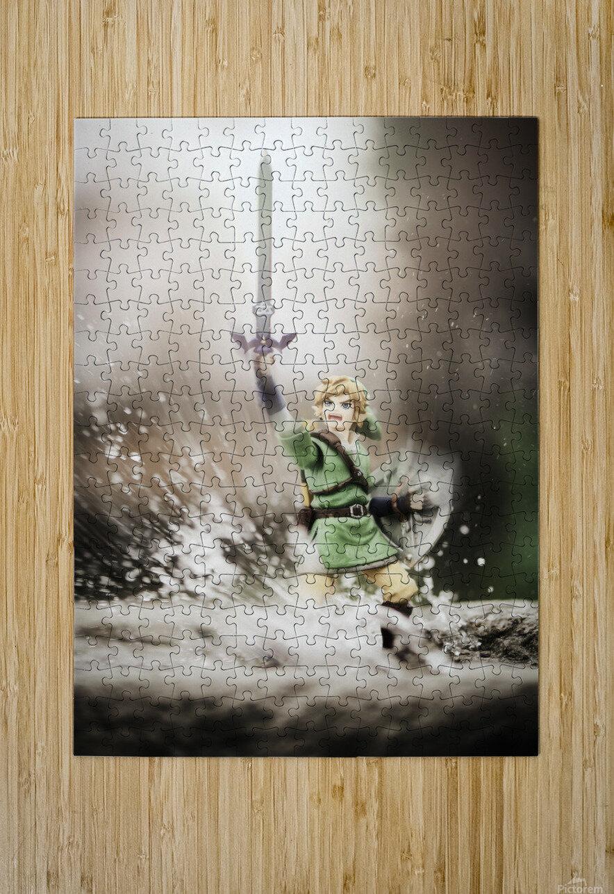 Legend of Zelda - Link in Splash  HD Metal print with Floating Frame on Back