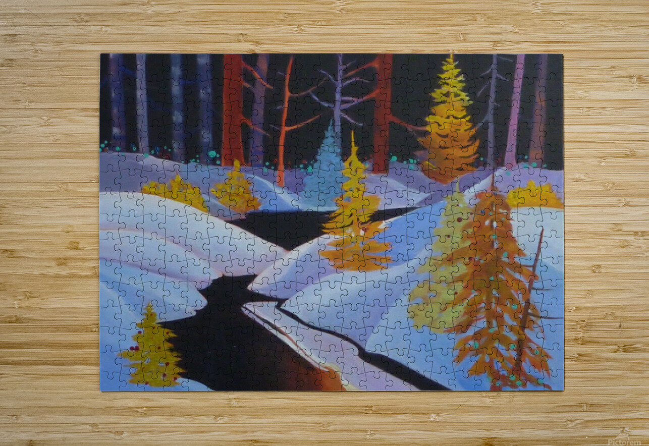 winterwonderland.acrylic  HD Metal print with Floating Frame on Back