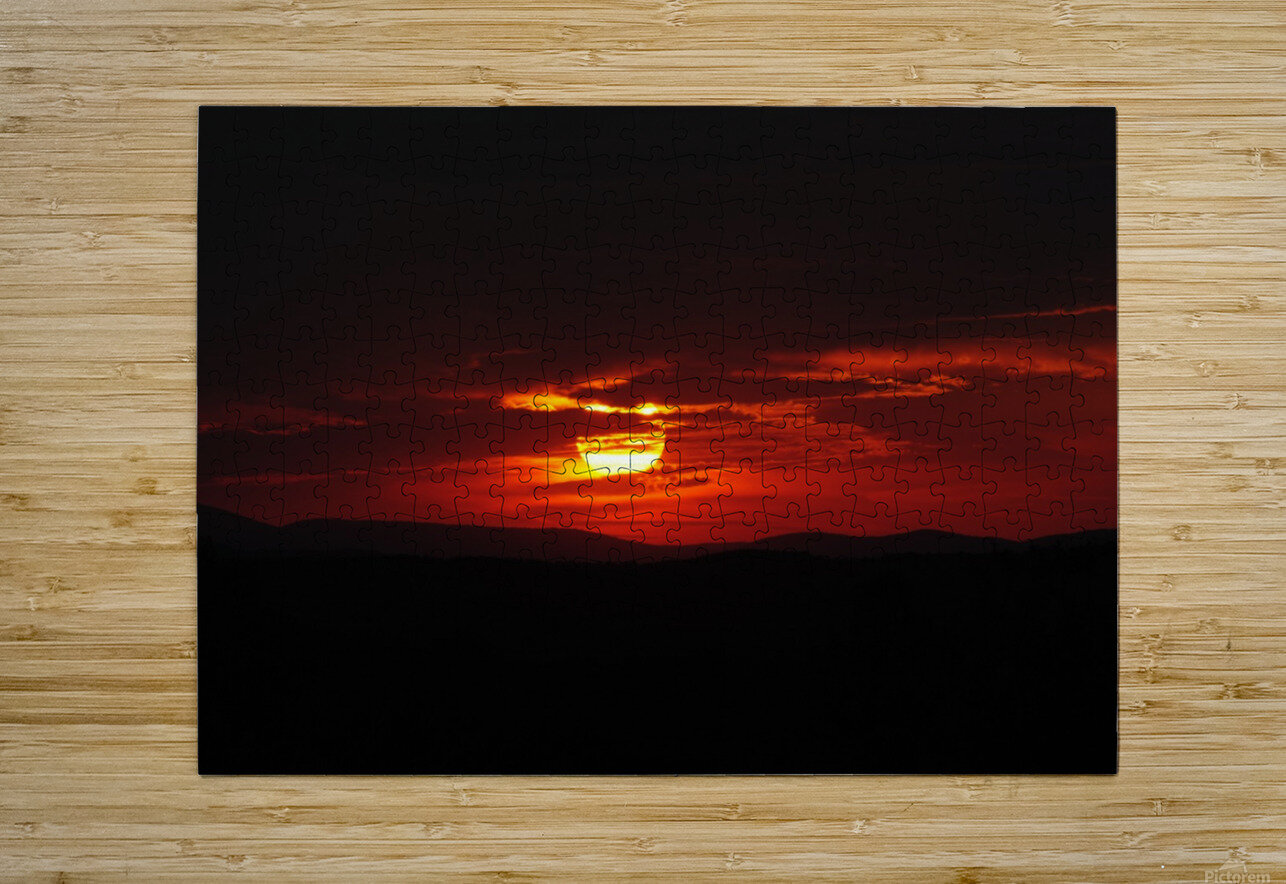 Sky on Fire  HD Metal print with Floating Frame on Back