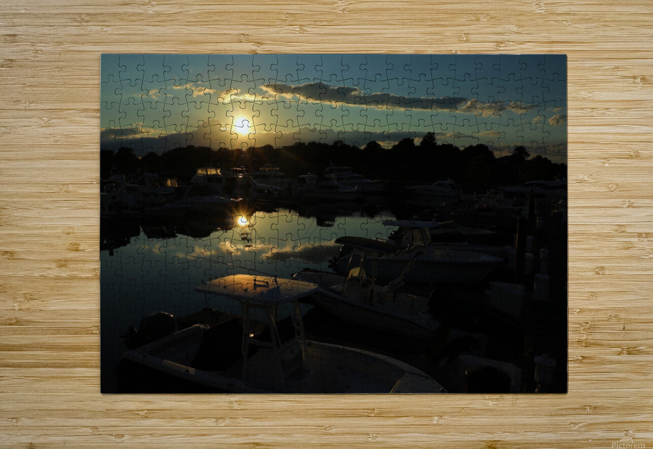 Lakeside  HD Metal print with Floating Frame on Back