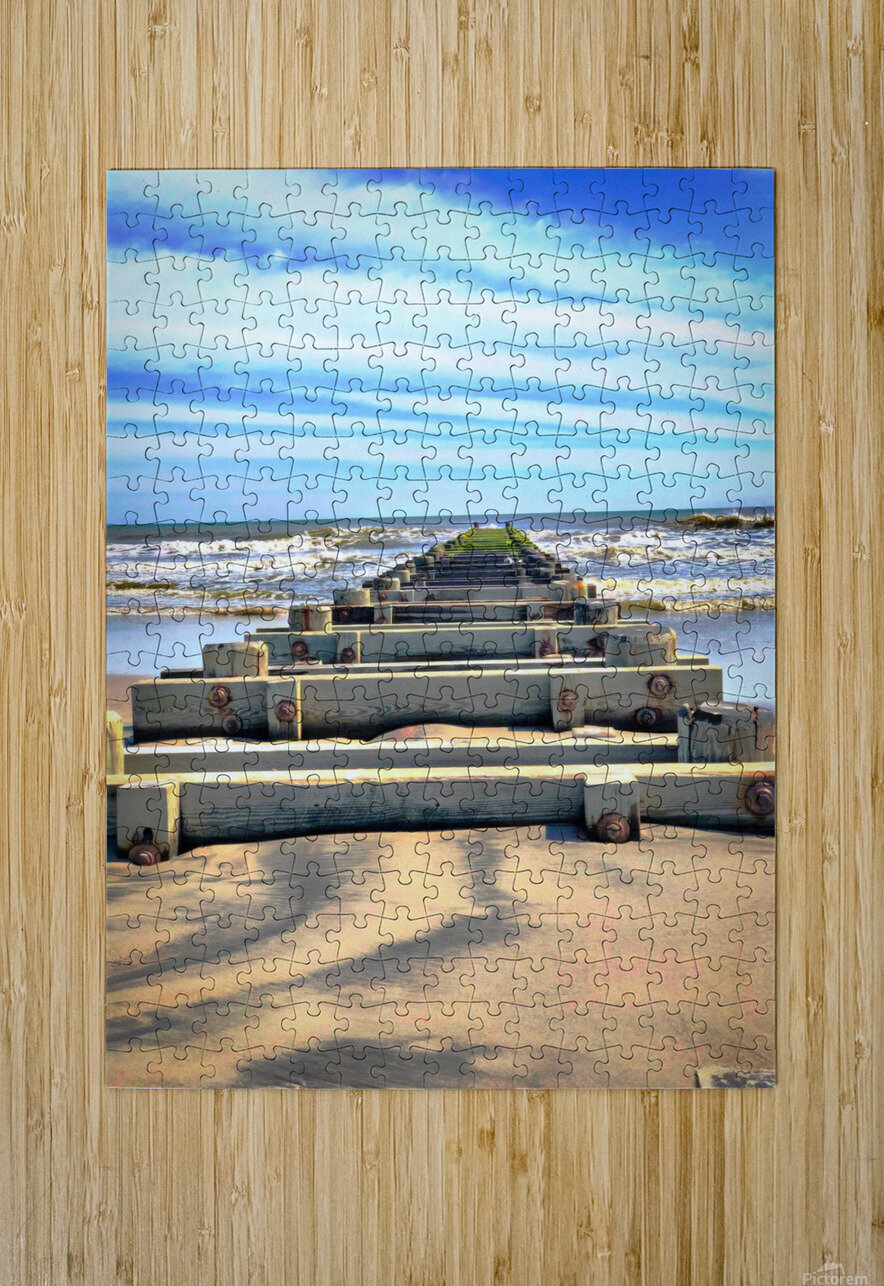 Tracks to Nowhere  HD Metal print with Floating Frame on Back