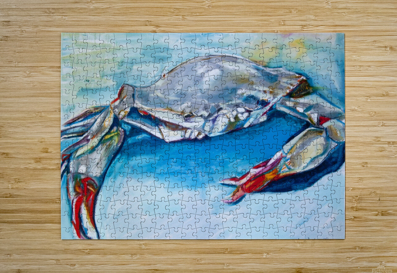 Louisiana She Soft Shell Crab  HD Metal print with Floating Frame on Back