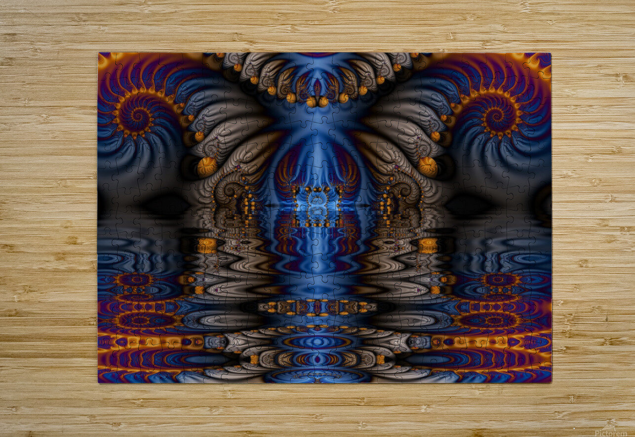 Blue Flame  HD Metal print with Floating Frame on Back