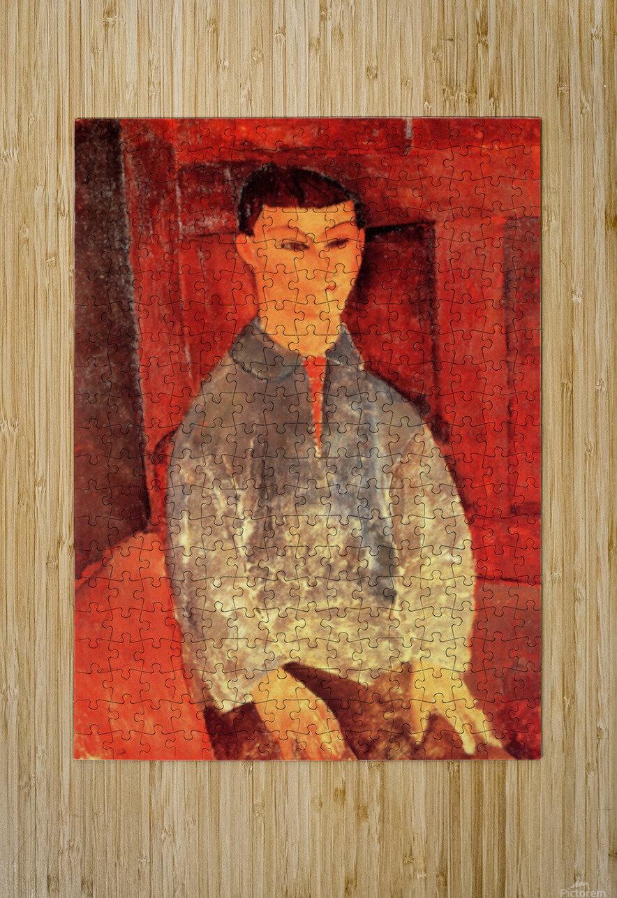 Modigliani - Portrait of Moise Kisling -3-  HD Metal print with Floating Frame on Back