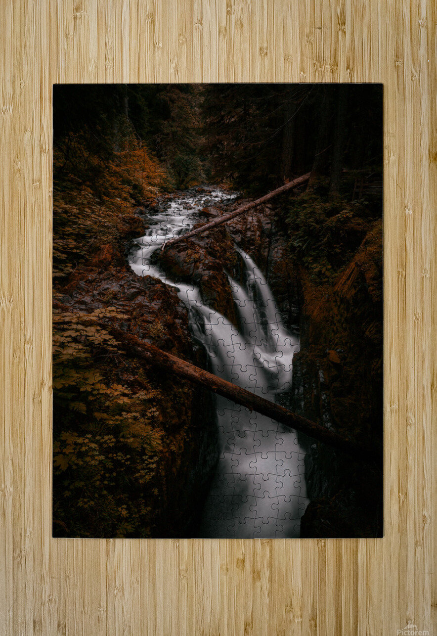 Golden Dreams  HD Metal print with Floating Frame on Back