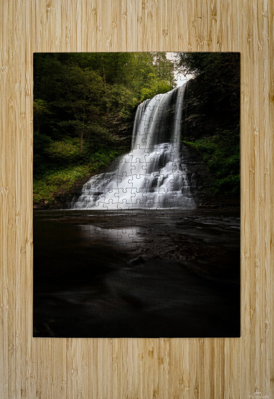 Capturing the Cascade  HD Metal print with Floating Frame on Back