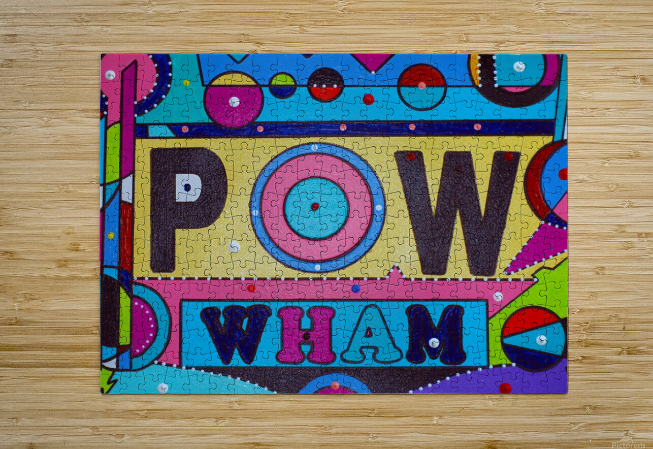 POW FOUR IN PLASTIC  HD Metal print with Floating Frame on Back