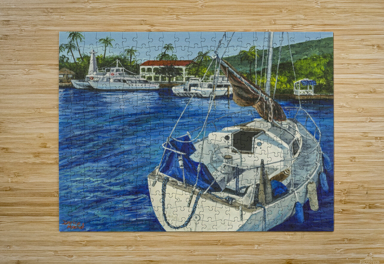 Lahaina Yacht  HD Metal print with Floating Frame on Back