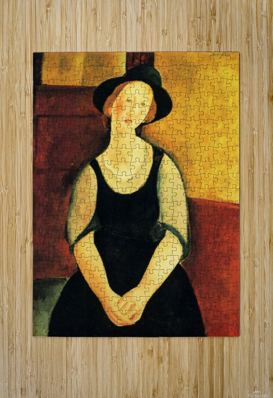 Modigliani - Portrait of Thora Klinckowstroem  HD Metal print with Floating Frame on Back