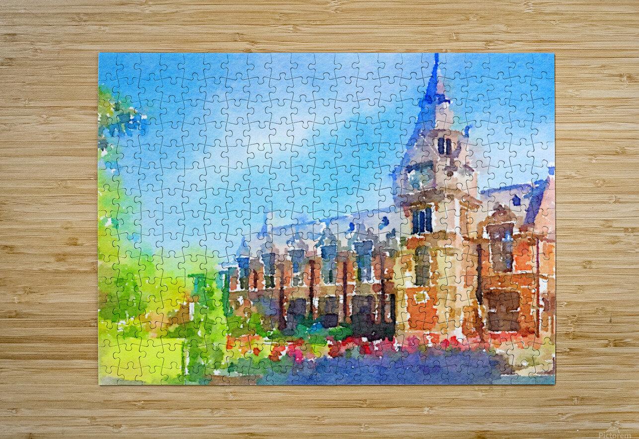 Pembroke collegeCambridge  HD Metal print with Floating Frame on Back