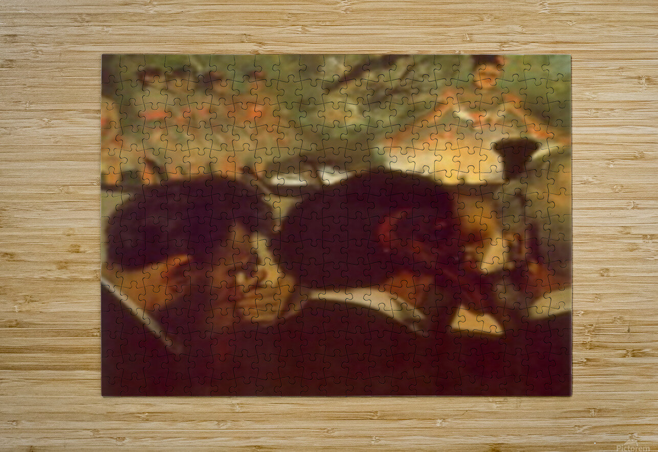 Musicians by Degas  HD Metal print with Floating Frame on Back