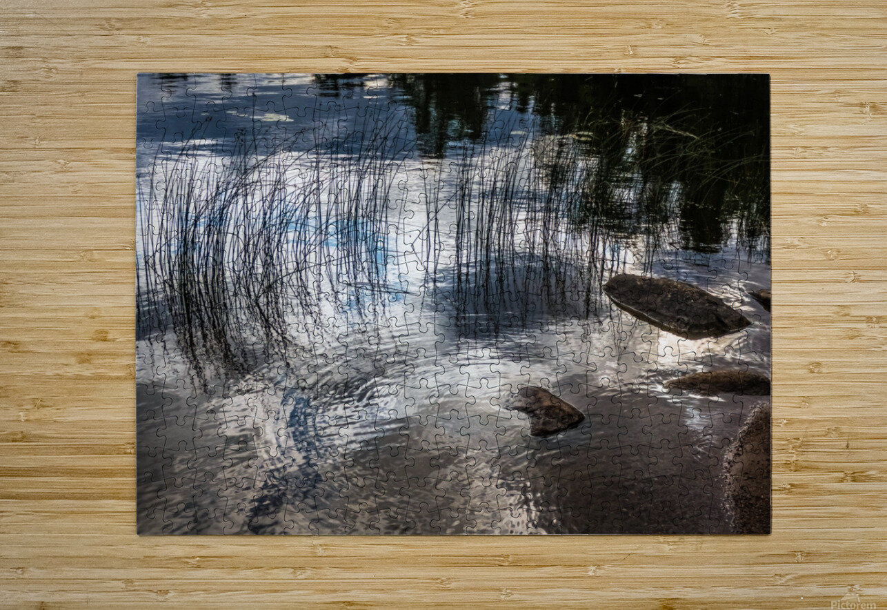water circles  HD Metal print with Floating Frame on Back