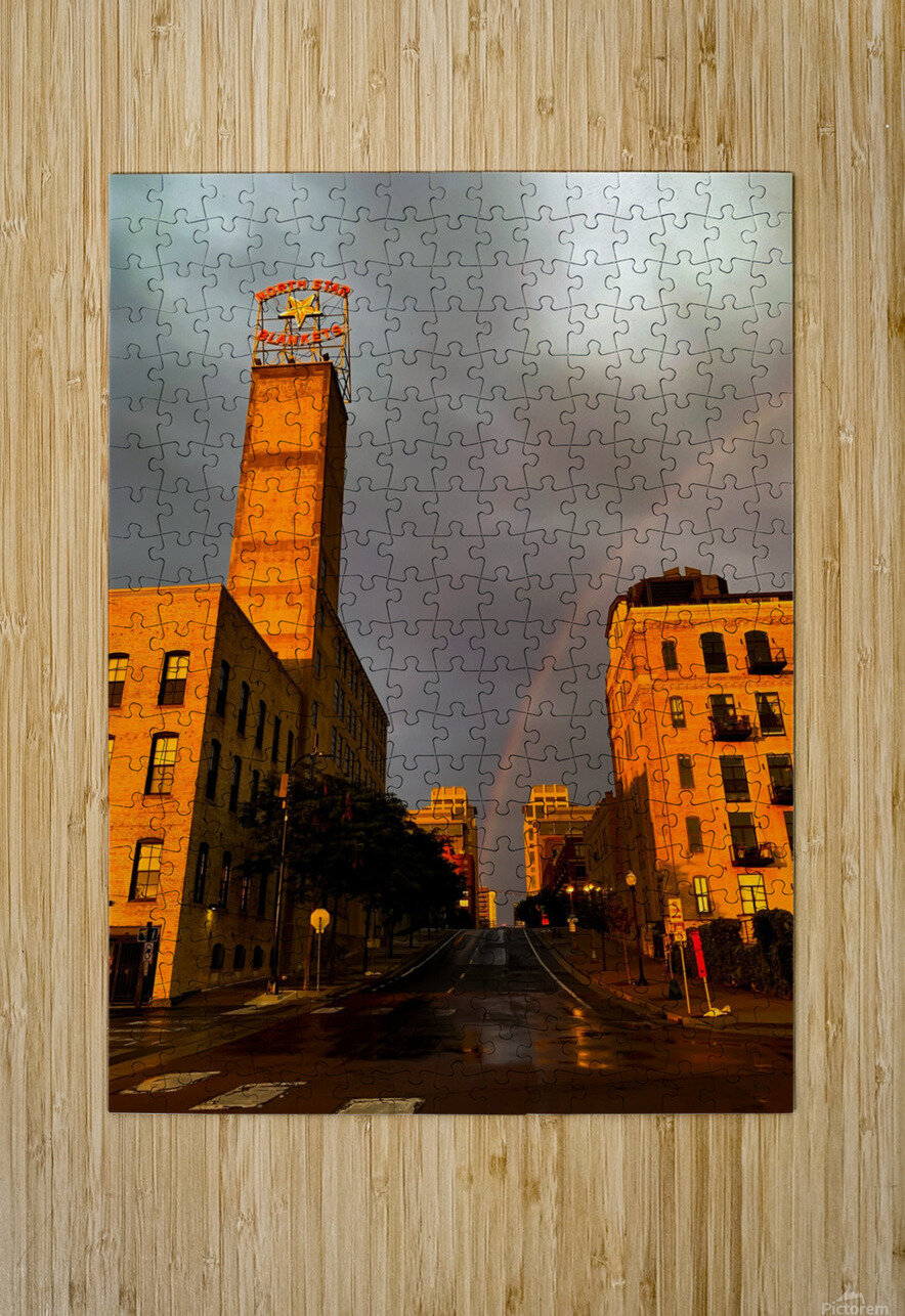 Mill District Rainbow  HD Metal print with Floating Frame on Back