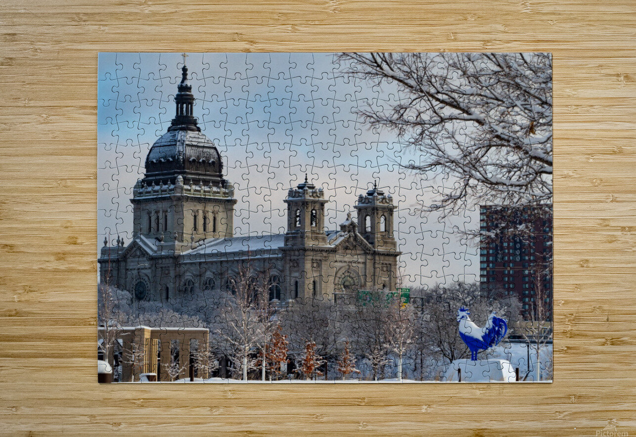 Basilica and Blue Rooster   HD Metal print with Floating Frame on Back