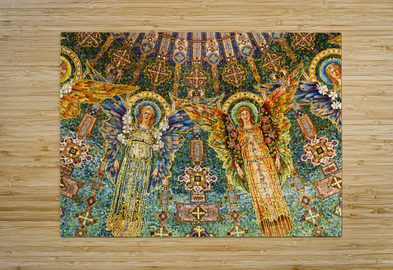 mosaic angels  HD Metal print with Floating Frame on Back