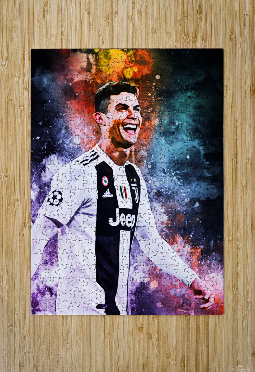 Cristiano Ronaldo  HD Metal print with Floating Frame on Back