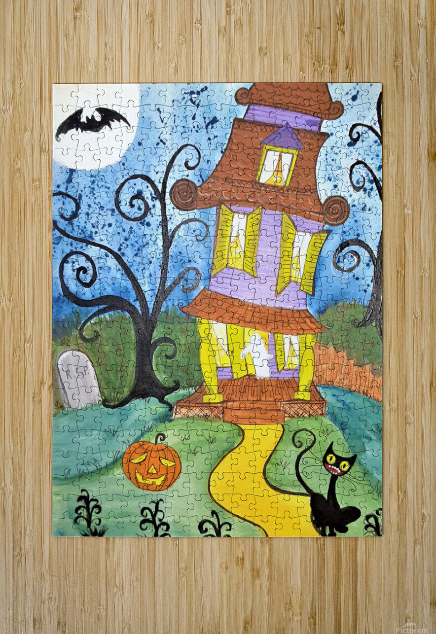 Spooktacular Night   HD Metal print with Floating Frame on Back