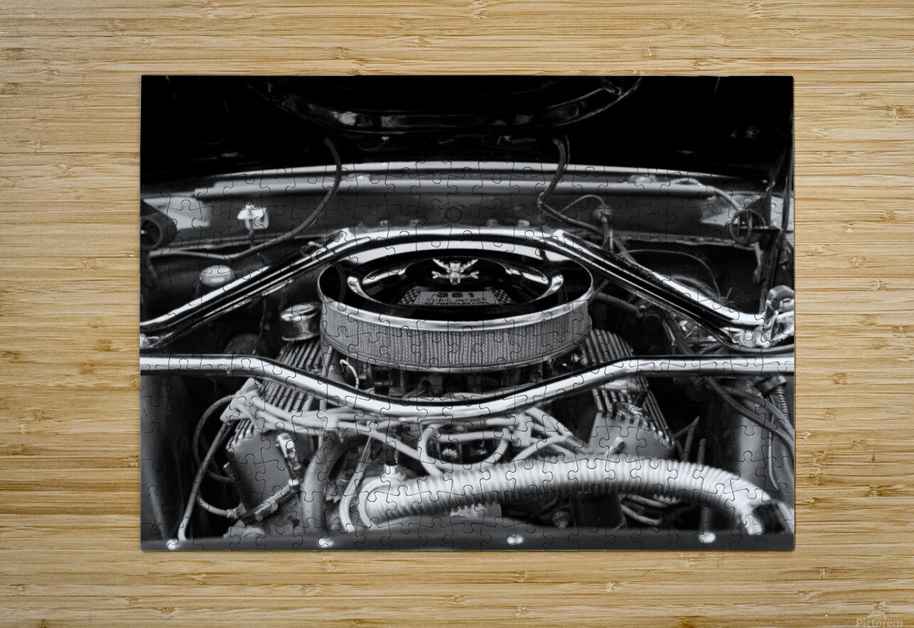 351 Mustang  HD Metal print with Floating Frame on Back