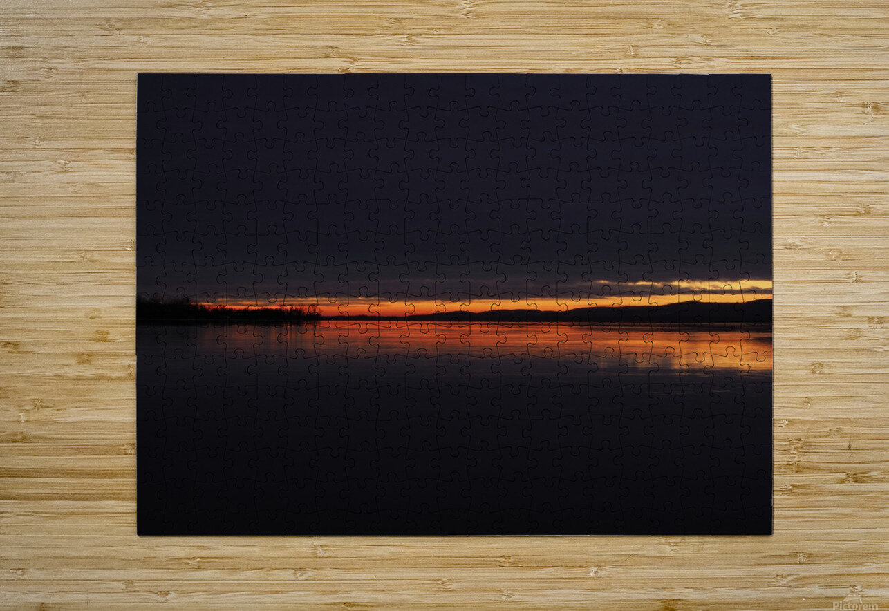 coucher flamboyant  HD Metal print with Floating Frame on Back