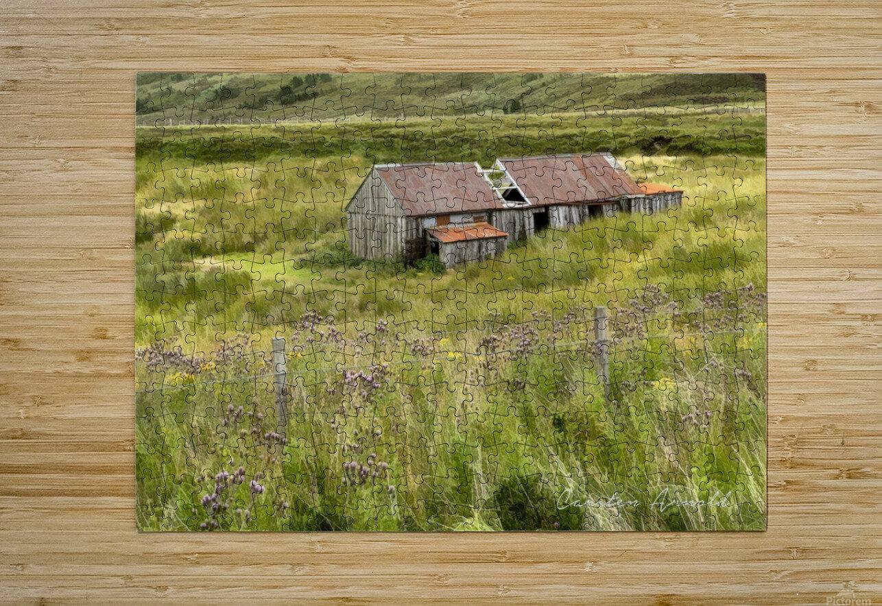 Scottish Highlands Barn  HD Metal print with Floating Frame on Back