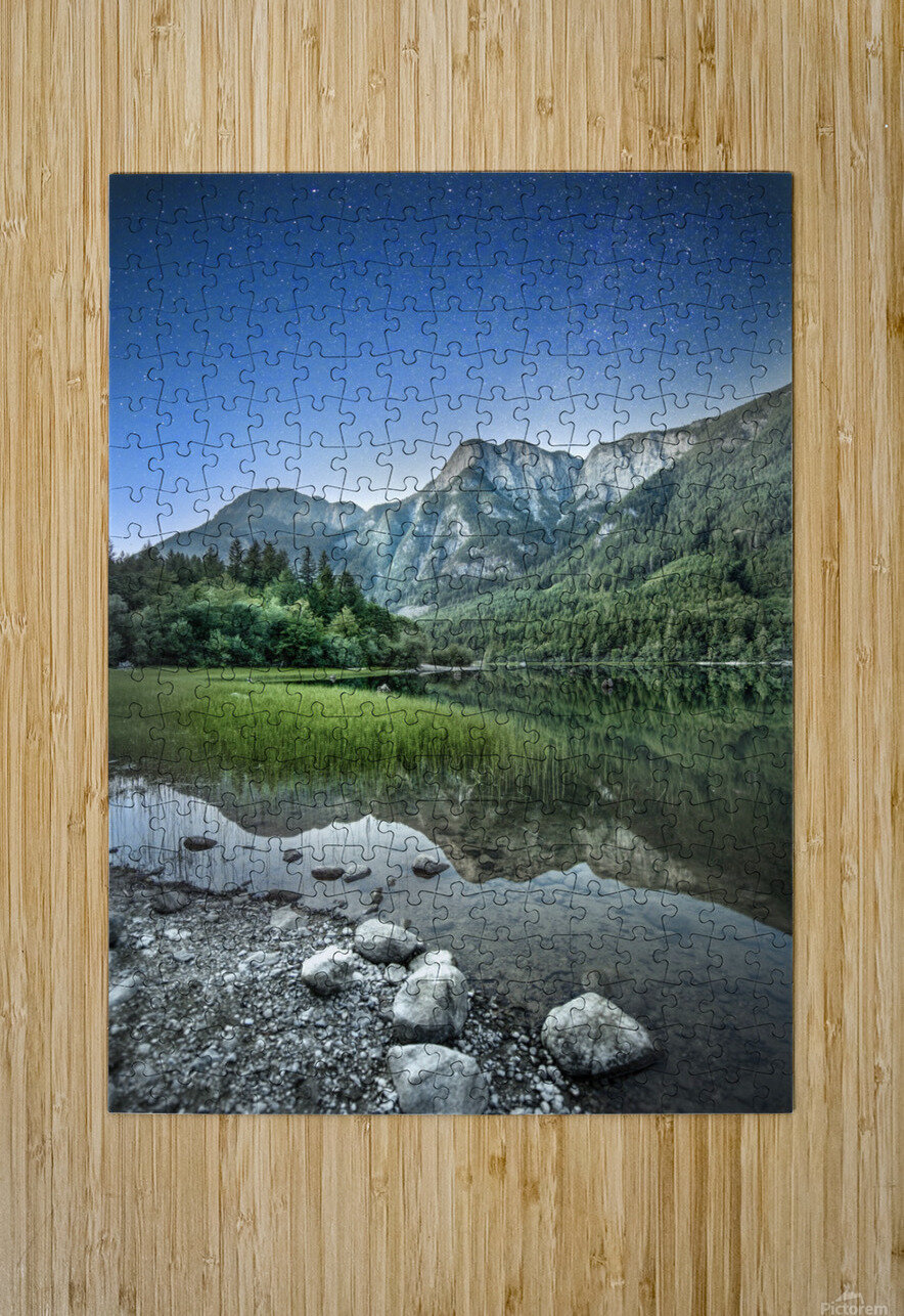Twilight on the Lake  HD Metal print with Floating Frame on Back