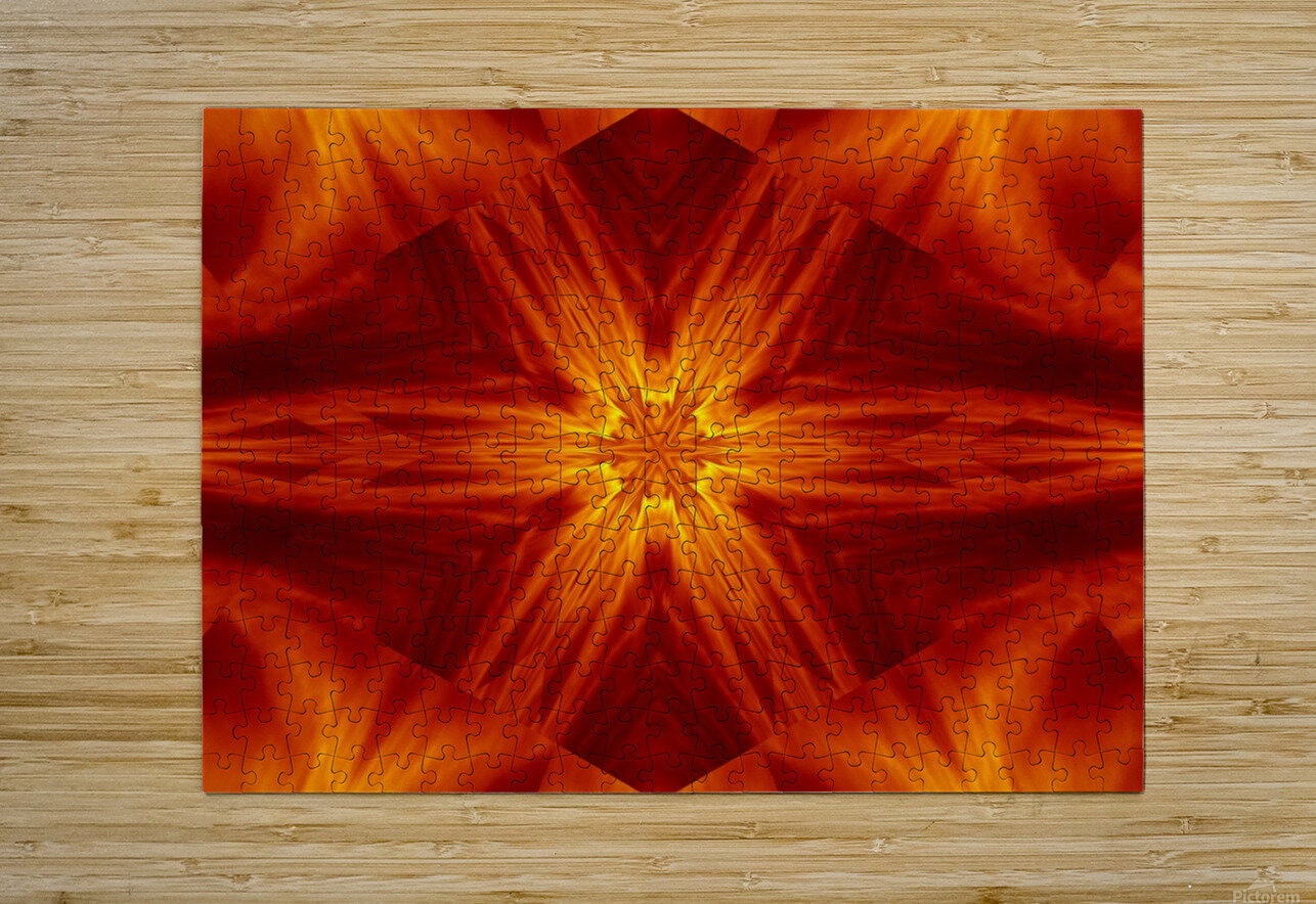 Fire Flowers 2  HD Metal print with Floating Frame on Back