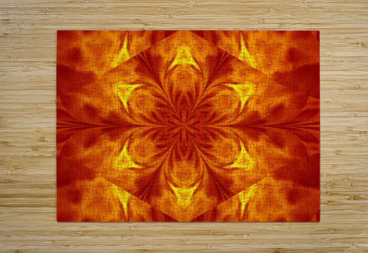 Fire Flowers 7  HD Metal print with Floating Frame on Back