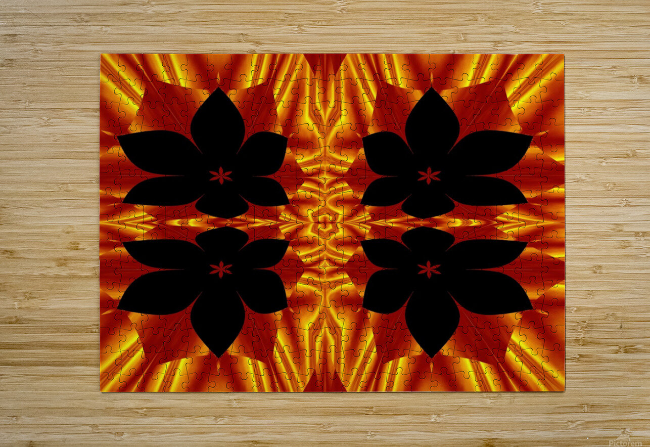 Fire Flowers 89  HD Metal print with Floating Frame on Back
