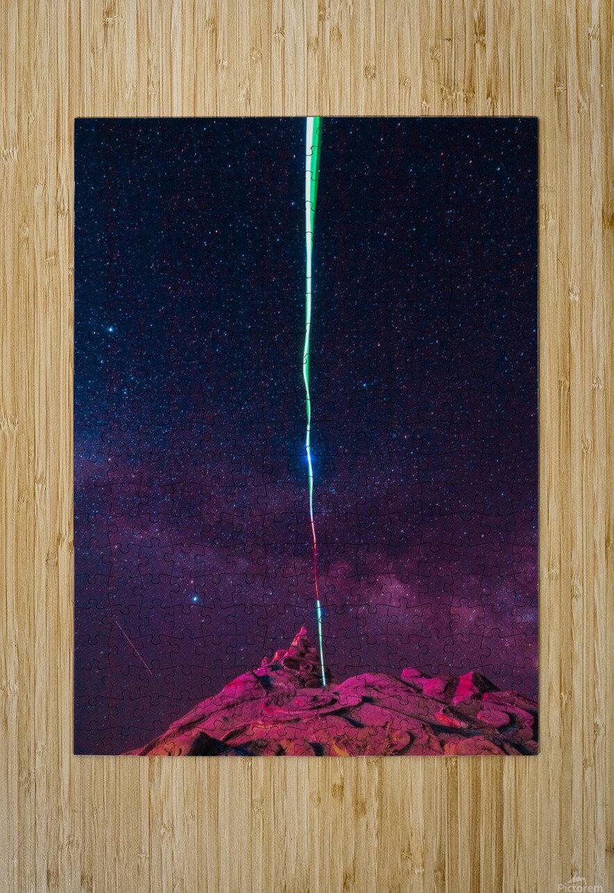 Light  HD Metal print with Floating Frame on Back