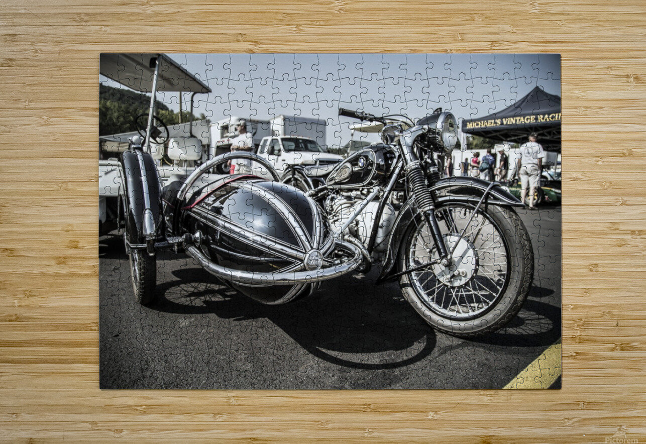 Motorcycle   HD Metal print with Floating Frame on Back