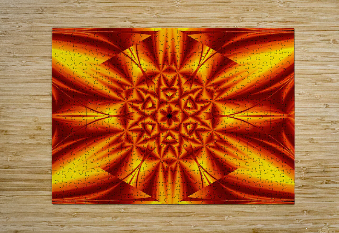 Fire Flowers 104  HD Metal print with Floating Frame on Back