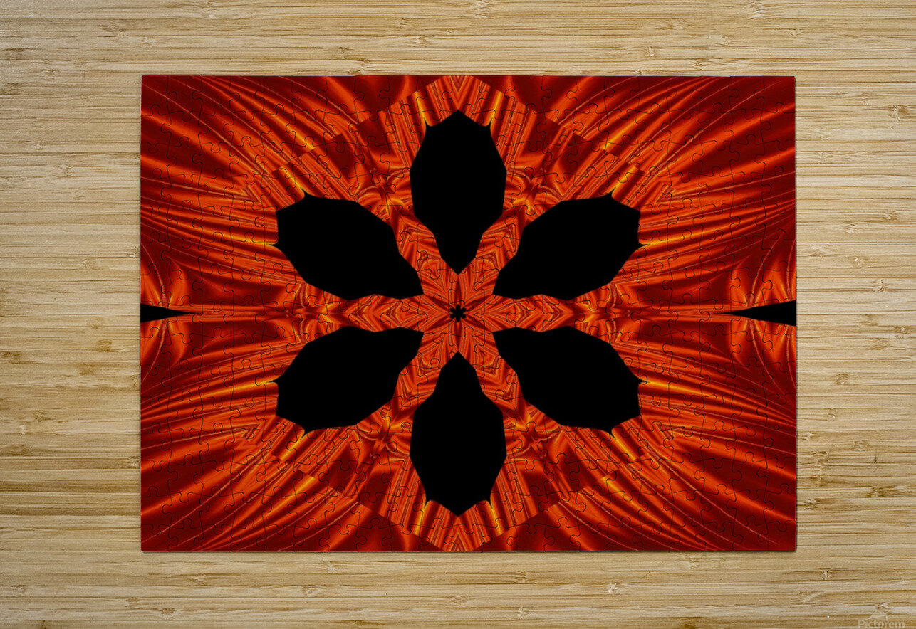 Fire Flowers 106  HD Metal print with Floating Frame on Back