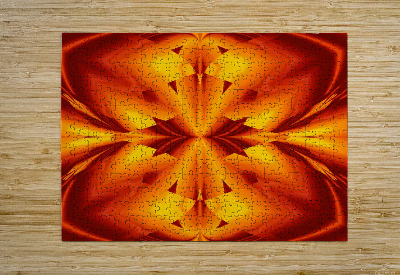 Fire Flowers 109  HD Metal print with Floating Frame on Back