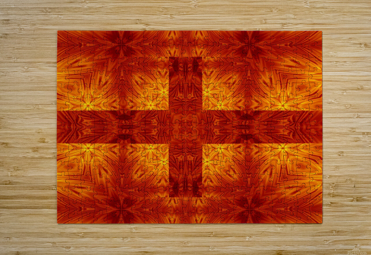 Fire Flowers 151  HD Metal print with Floating Frame on Back