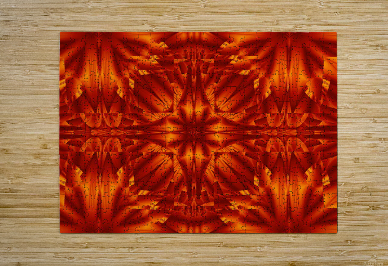 Fire Flowers 187  HD Metal print with Floating Frame on Back