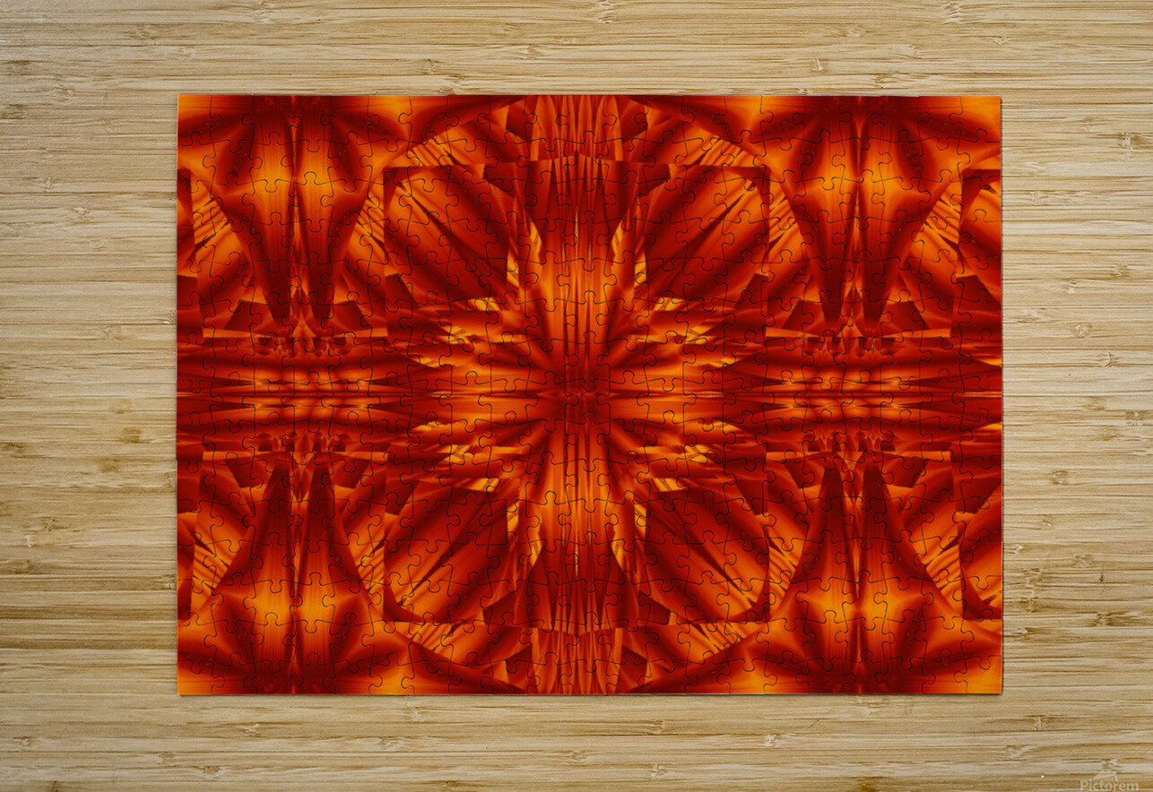 Fire Flowers 188  HD Metal print with Floating Frame on Back
