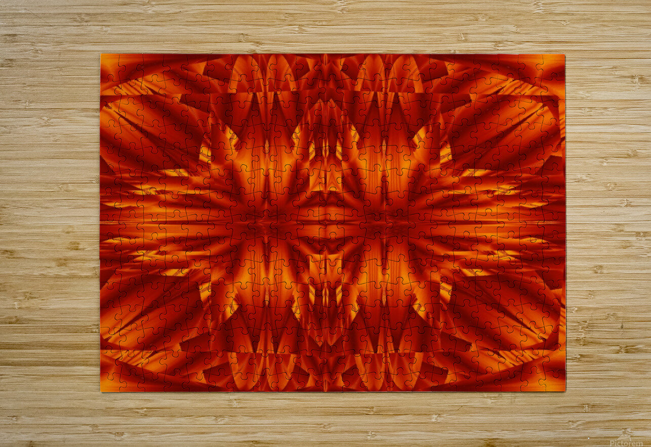 Fire Flowers 189  HD Metal print with Floating Frame on Back