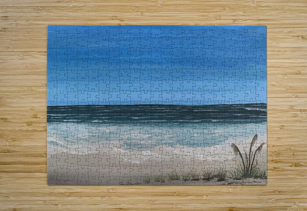 Ocean side  HD Metal print with Floating Frame on Back
