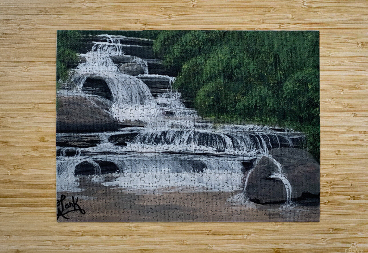 River Falls  HD Metal print with Floating Frame on Back