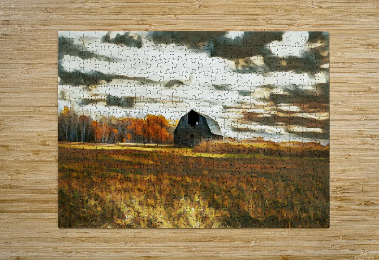 barn um lisadrewphotos  HD Metal print with Floating Frame on Back