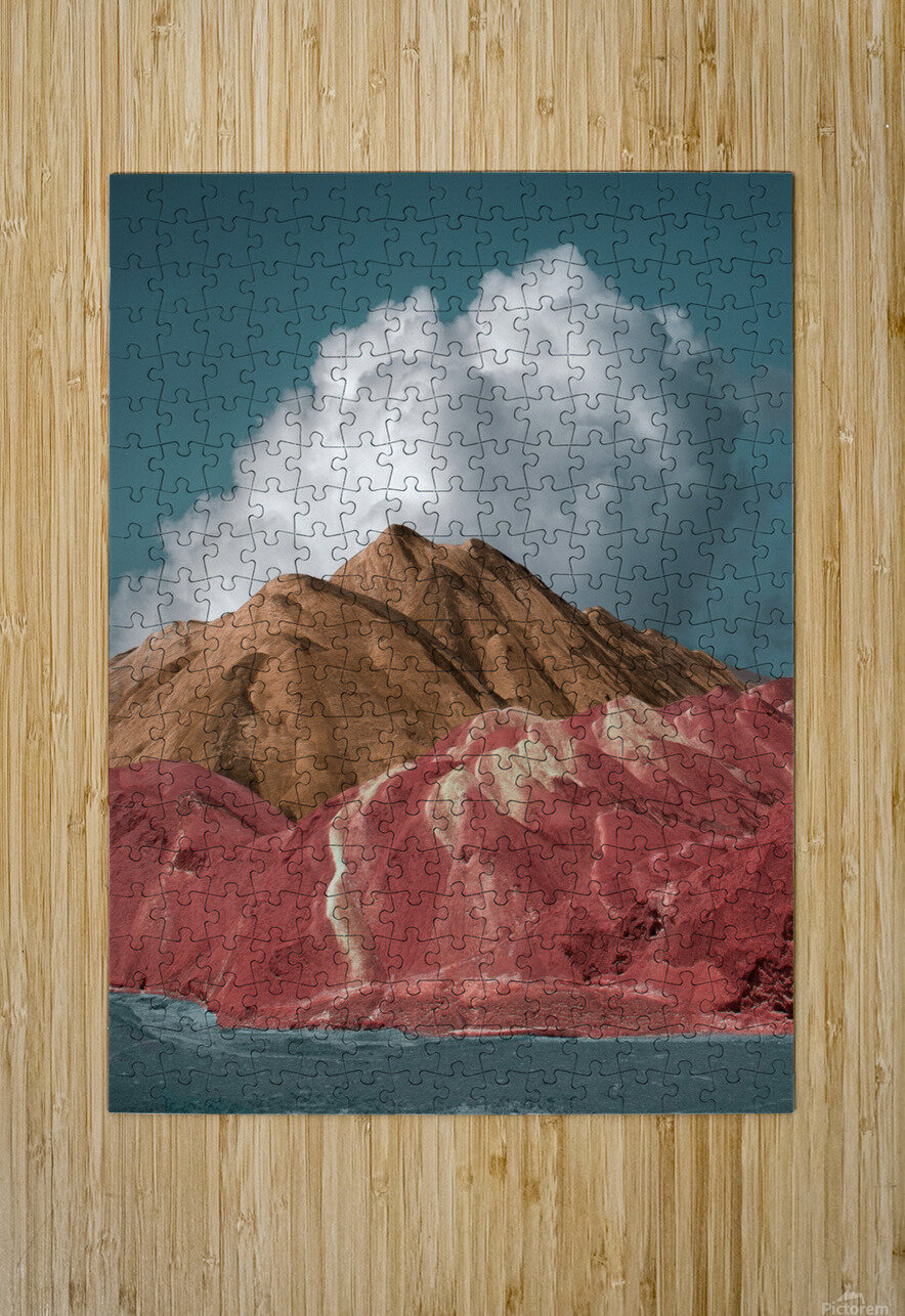 Colorful Danxia  HD Metal print with Floating Frame on Back